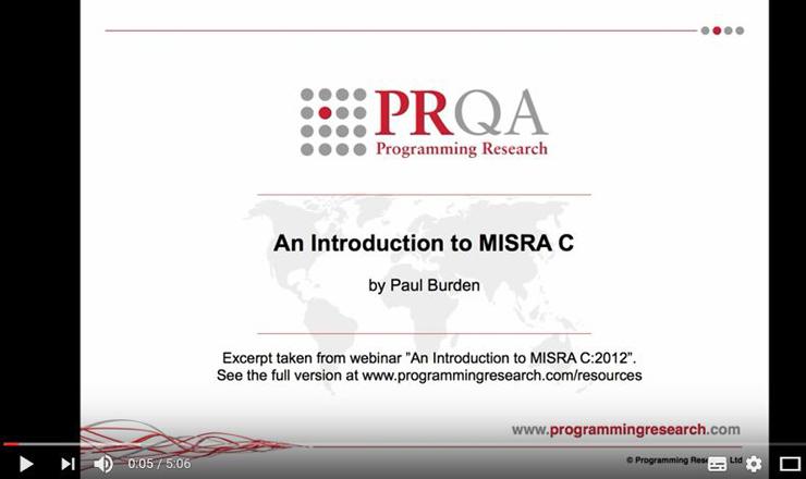 Introduction MISRA C